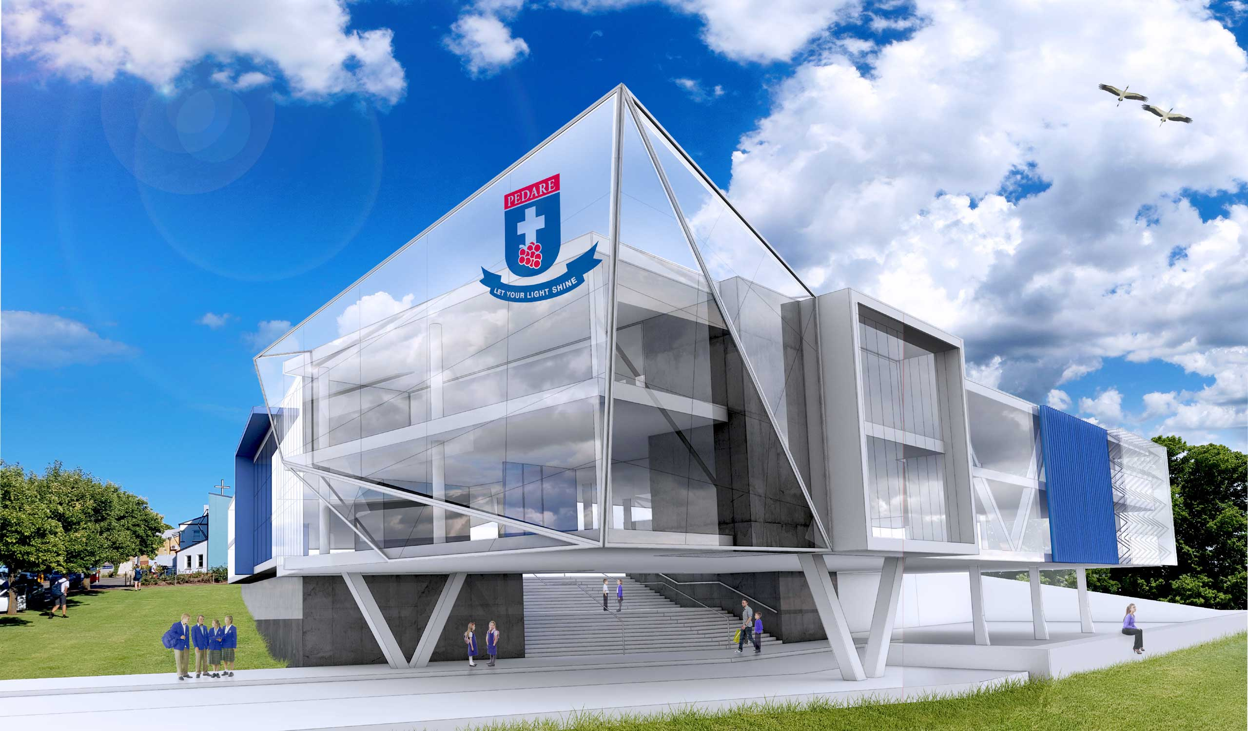 Pedare Middle School and integrated STEM Space Artist Impression