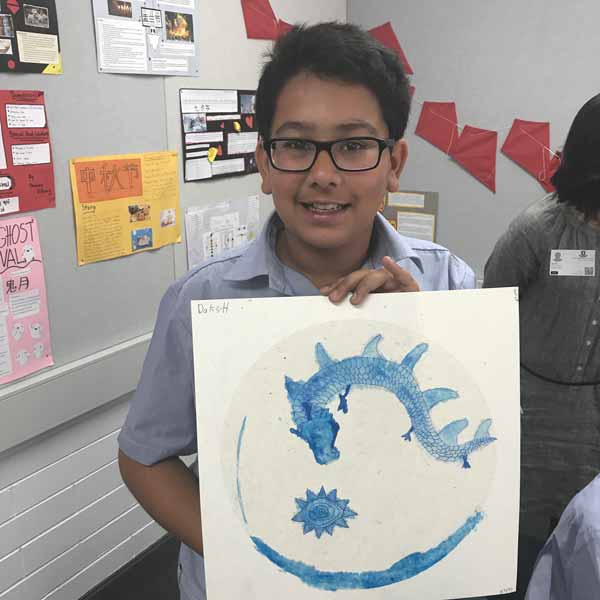 Year 7-Chinese porcelain painting-workshop-Daksh-Gupta