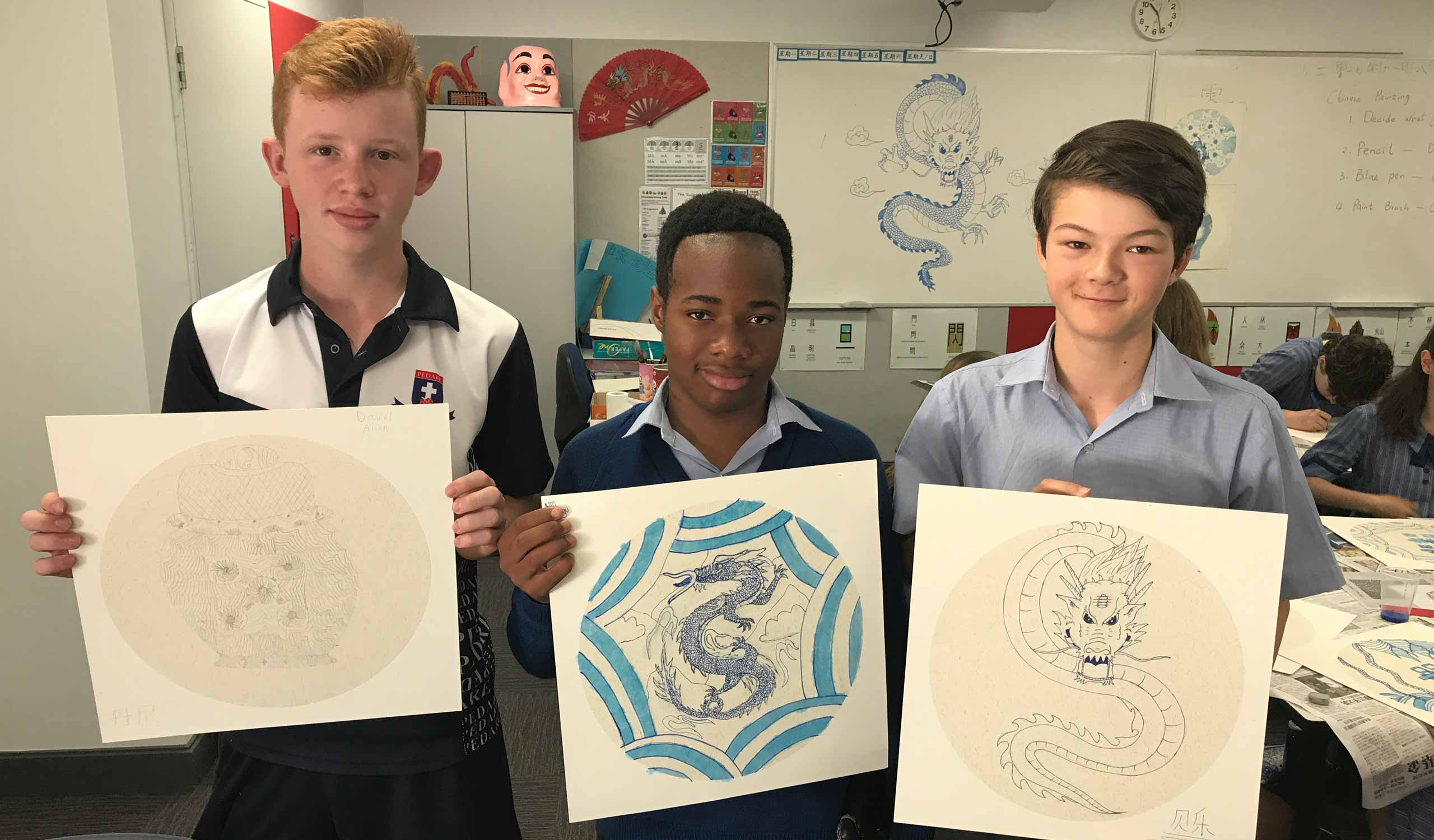 Year 8 Chinese Porcelain Painting-Workshop-13MaroDanielAden