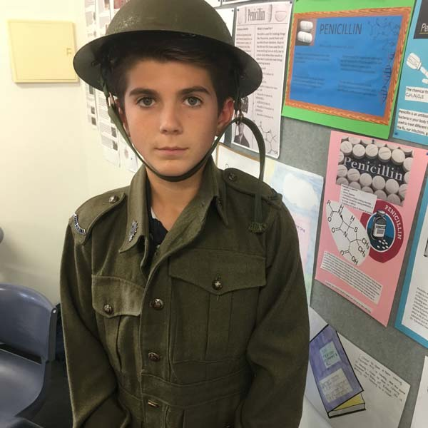 Year 9 WW1 artefacts